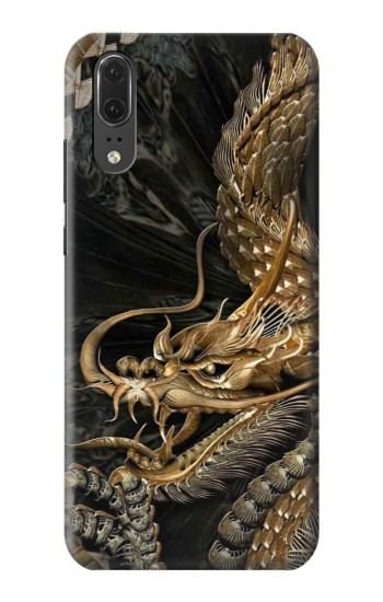 Printed Gold Dragon Huawei P20 Case