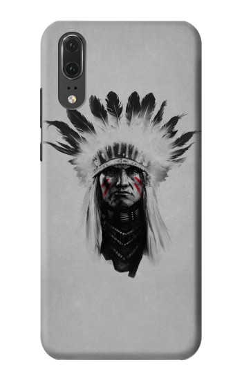 Printed Indian Chief Huawei P20 Case