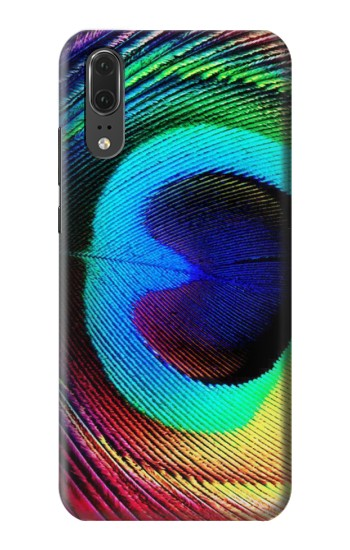 Printed Peacock Huawei P20 Case