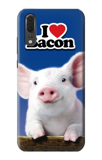 Printed I Love Bacon Huawei P20 Case
