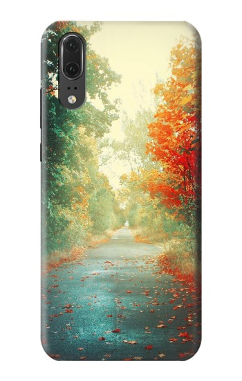 Printed Road Through The Woods Huawei P20 Case