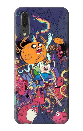 Printed Adventure Time Huawei P20 Case