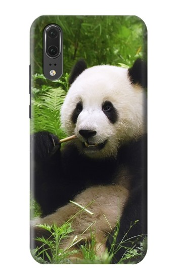 Printed Panda Enjoy Eating Huawei P20 Case