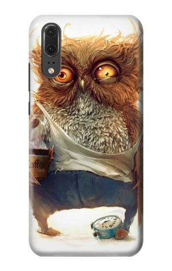 Printed Wake up Owl Huawei P20 Case