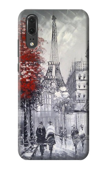 Printed Eiffel Painting of Paris Huawei P20 Case