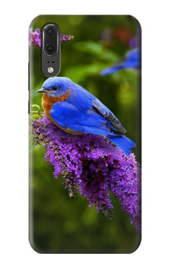 Printed Bluebird of Happiness Blue Bird Huawei P20 Case