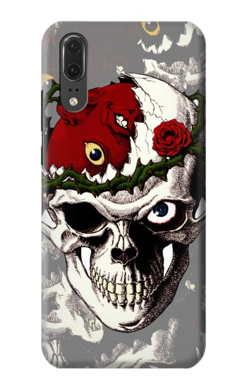Printed Berserk Skull Beherit Egg Tattoo Huawei P20 Case