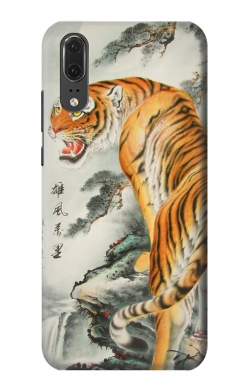 Printed Chinese Tiger Painting Huawei P20 Case