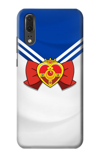 Printed Sailor Moon Brooch and Bow Huawei P20 Case
