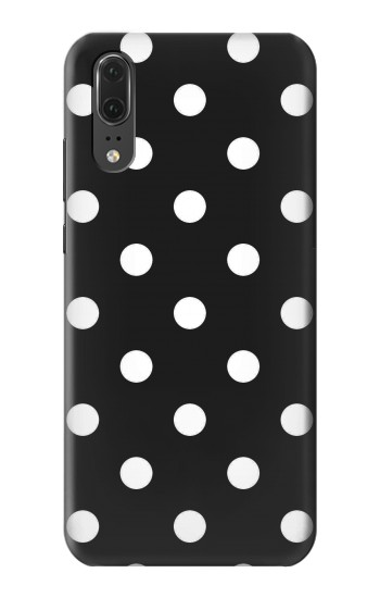 Printed Black Polka Dots Huawei P20 Case