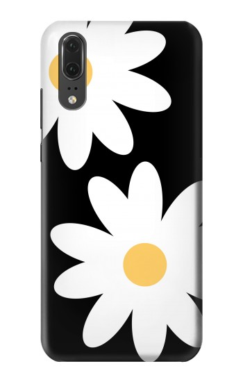 Printed Daisy White Flowers Huawei P20 Case