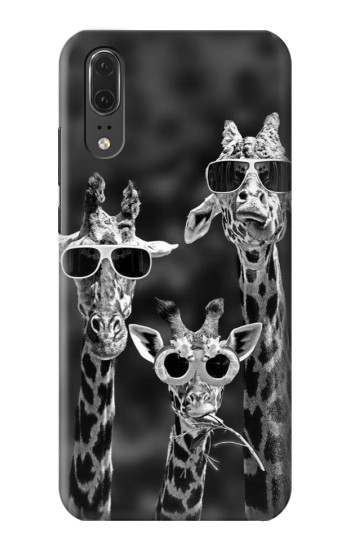 Printed Giraffes With Sunglasses Huawei P20 Case