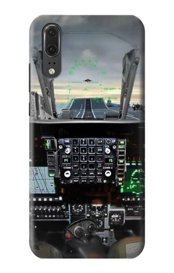 Printed Fighter Jet Aircraft Cockpit Huawei P20 Case