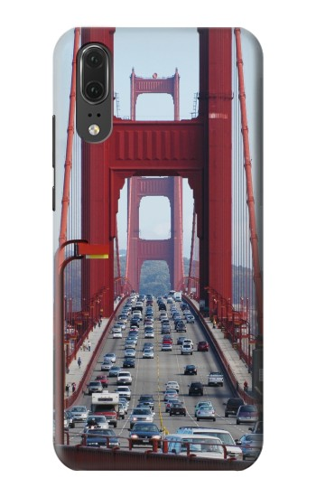 Printed Golden Gate Bridge Traffic Huawei P20 Case