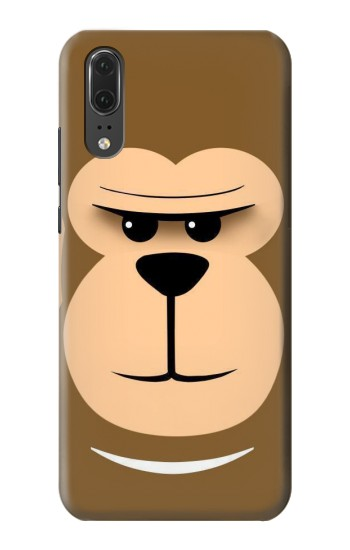 Printed Cute Monkey Cartoon Face Huawei P20 Case