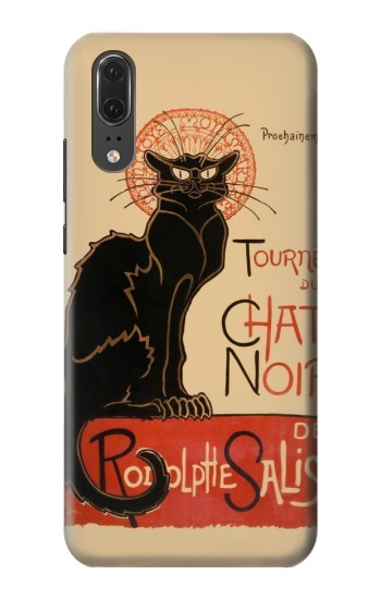 Printed Chat Noir The Black Cat Huawei P20 Case