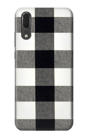 Printed Black and White Buffalo Check Pattern Huawei P20 Case