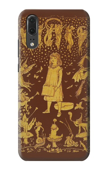 Printed Brown Fairy Book Cover Huawei P20 Case