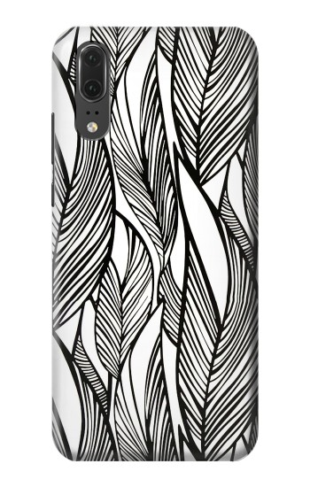 Printed Jungle Leaf Pattern Huawei P20 Case