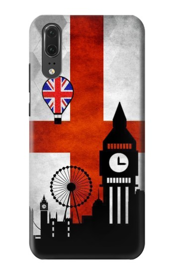 Printed England Football Flag Huawei P20 Case