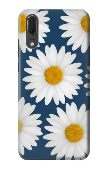 Printed Daisy Blue Huawei P20 Case