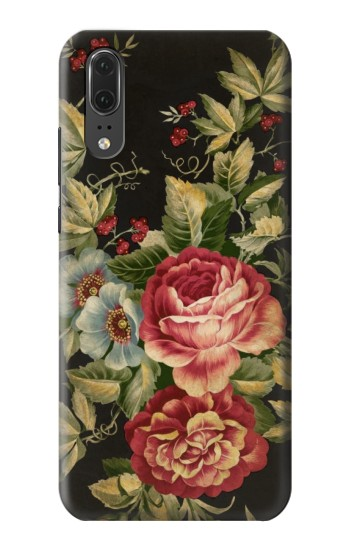 Printed Vintage Antique Roses Huawei P20 Case