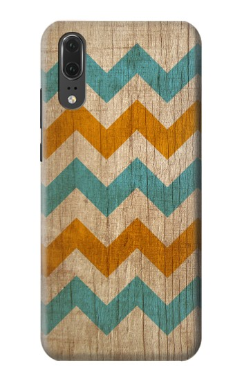 Printed Vintage Wood Chevron Huawei P20 Case