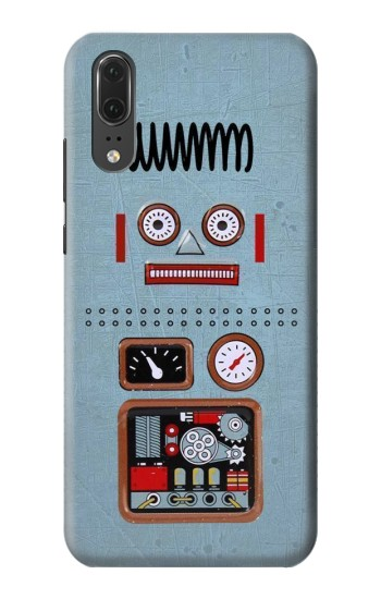 Printed Retro Robot Toy Huawei P20 Case