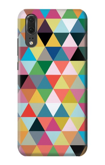 Printed Triangles Vibrant Colors Huawei P20 Case
