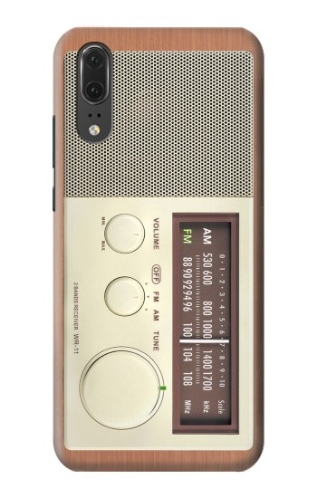 Printed FM AM Wooden Receiver Graphic Huawei P20 Case