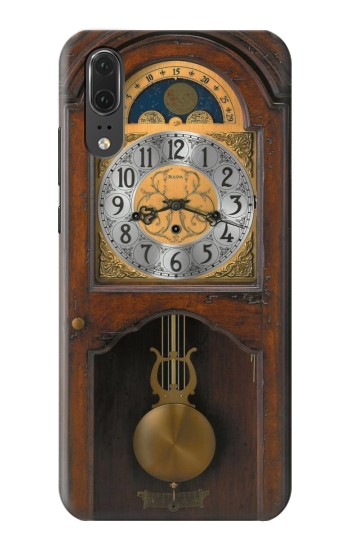 Printed Grandfather Clock Antique Wall Clock Huawei P20 Case