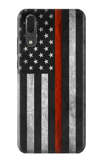 Printed Firefighter Thin Red Line Flag Huawei P20 Case