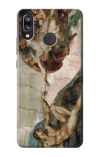 Printed Michelangelo The creation of Adam Huawei P20 Lite Case