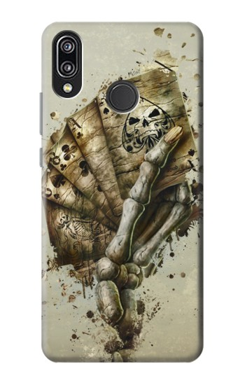Printed Skull Card Poker Huawei P20 Lite Case