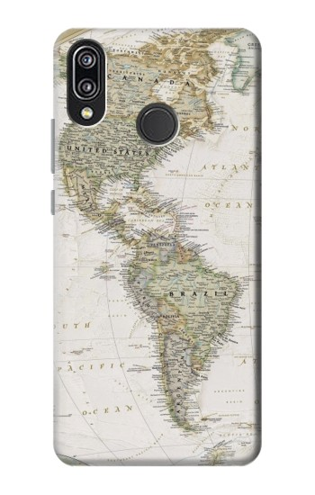 Printed World Map Huawei P20 Lite Case