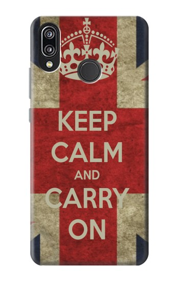 Printed Keep Calm and Carry On Huawei P20 Lite Case