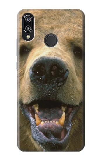 Printed Grizzly Bear Face Huawei P20 Lite Case