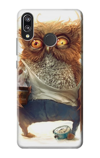 Printed Wake up Owl Huawei P20 Lite Case