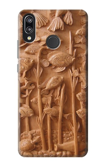 Printed Fish Wood Carving Graphic Printed Huawei P20 Lite Case