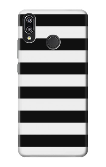 Printed Black and White Striped Huawei P20 Lite Case
