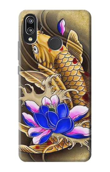 Printed Carp Koi Fish Japanese Tattoo Huawei P20 Lite Case