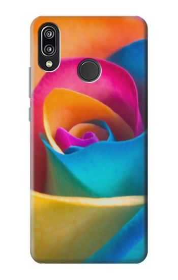 Printed Rainbow Colorful Rose Huawei P20 Lite Case