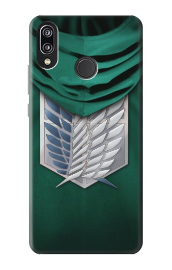 Printed Attack on Titan Scouting Legion Rivaille Green Cloak Huawei P20 Lite Case