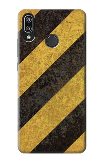 Printed Yellow and Black Line Hazard Striped Huawei P20 Lite Case