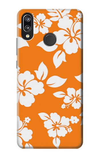 Printed Hawaiian Hibiscus Orange Pattern Huawei P20 Lite Case