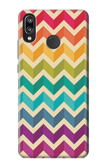 Printed Rainbow Colorful Shavron Zig Zag Pattern Huawei P20 Lite Case