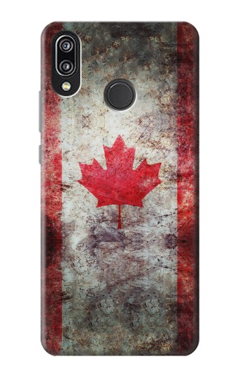 Printed Canada Maple Leaf Flag Texture Huawei P20 Lite Case