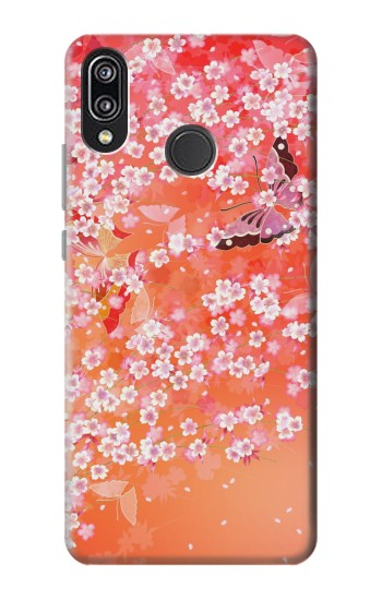 Printed Japanese Style Flower Pattern Huawei P20 Lite Case