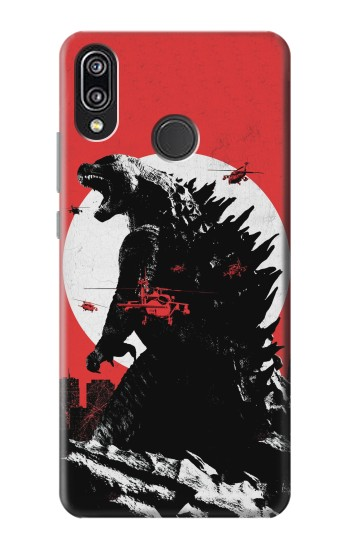Printed Godzilla Japan Flag Huawei P20 Lite Case