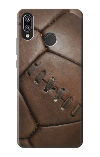 Printed Vintage Genuine Leather Soccer Football Huawei P20 Lite Case